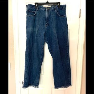 Faded Glory Blue Straight Leg Jeans Relaxed 40/34
